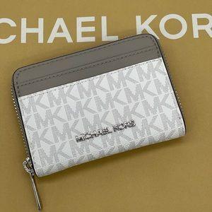 Michael Kors MD ZA Card Case Bright White